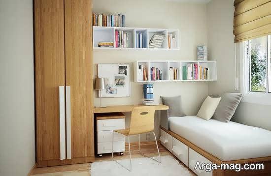 انواع دیزاین اتاق خواب کوچک شیک و امروزی
