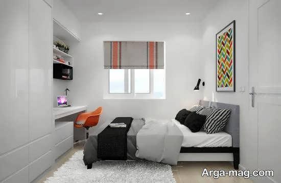 گالری زیبا و شیک طراحی اتاق خواب با متراژ کم