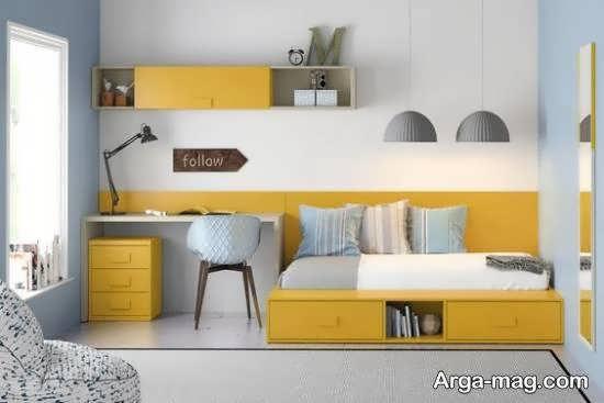 ایده های دکوراسیون اتاق خواب کوچک با سلیقه و زیبا