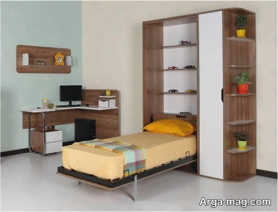گالری شیک و مدرن طراحی اتاق خواب کوچک