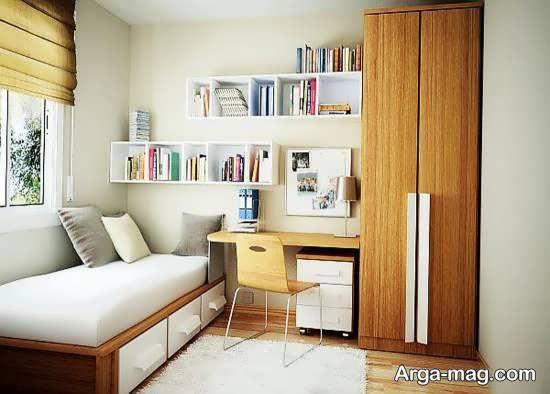 گالری طراحی مدرن و شیک اتاق خواب کوچک
