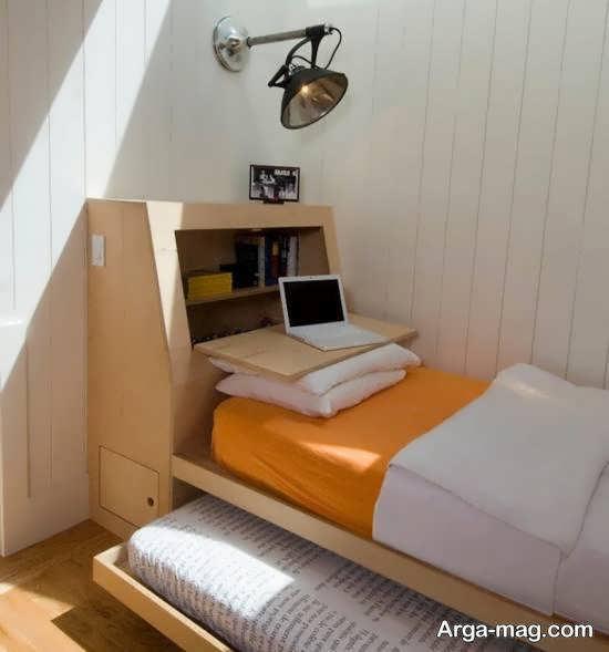انواع نمونه های زیبا و جذاب دکوراسیون اتاق خواب کوچک شیک و لوکس