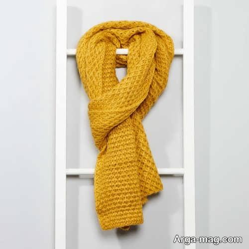 شال گردن زرد