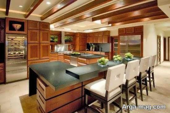 ایده های متنوع و متفاوت طراحی آشپزخانه چوبی