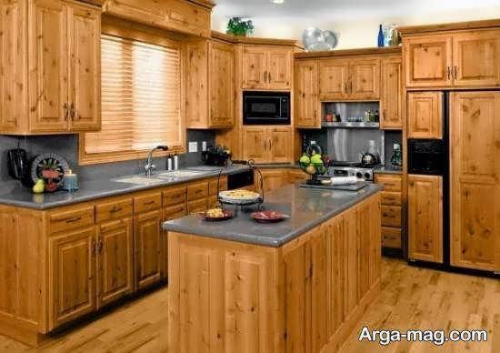 ایده های طراحی و زیباسازی آشپزخانه چوبی