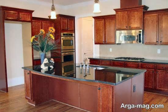 انواع دکوراسیون آشپزخانه چوبی شیک و ارزنده