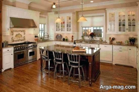 نمونه های طراحی آشپزخانه چوبی با تنوع و دوام بالا