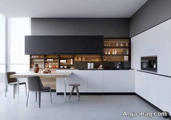 مجموعه زیبا و بینظیر دکوراسیون آشپزخانه چوبی