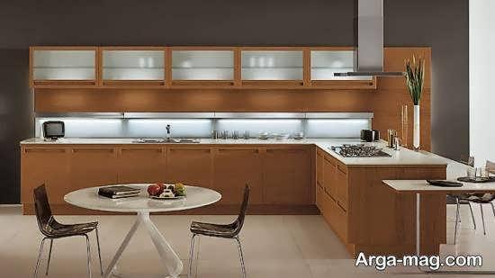 انواع دکوراسیون آشپزخانه چوبی زیبا و مدرن