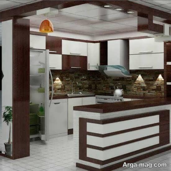 کلکسیون جدید و با سلیقه چیدمان آشپزخانه چوبی