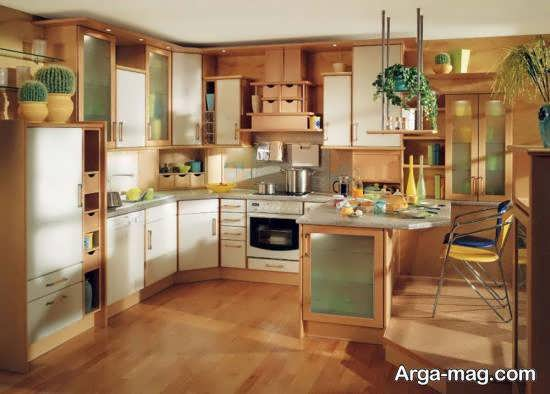 مجموعه زیبا و ارزشمند طراحی آشپزخانه چوبی