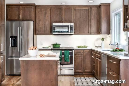 مجموعه زیبا و نفیس دکوراسیون آشپزخانه چوبی برای با سلیقه ها
