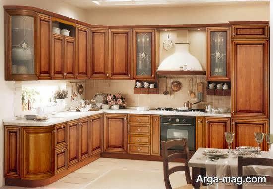 مجموعه زیبا و متنوع دیزاین آشپزخانه چوبی