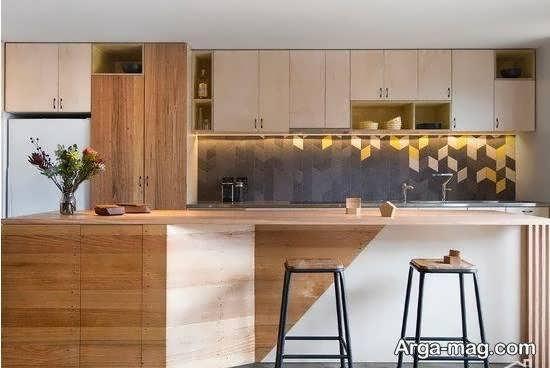 زیباسازی و چیدمان آشپزخانه چوبی با دوام بالا