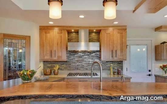 مجموعه زیبا و مدرن دیزاین آشپزخانه چوبی