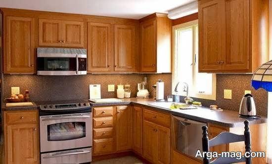 انواع ایده های طراحی آشپزخانه چوبی