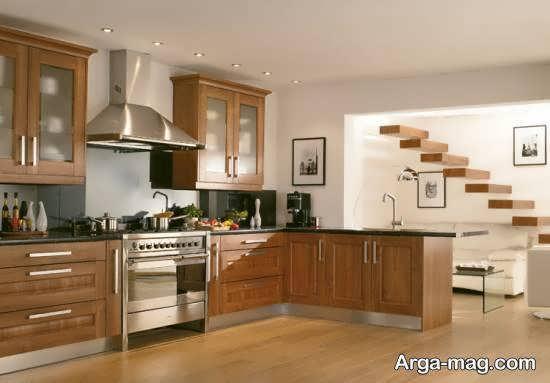 نمونه های زیبا و مدرن دکوراسیون آشپزخانه چوبی