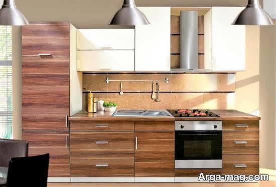 ایده های لوکس و شیک دیزاین آشپزخانه چوبی