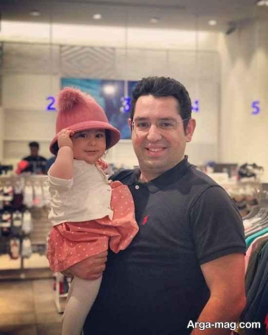 محمدرضا احمدی و دخترش نفس