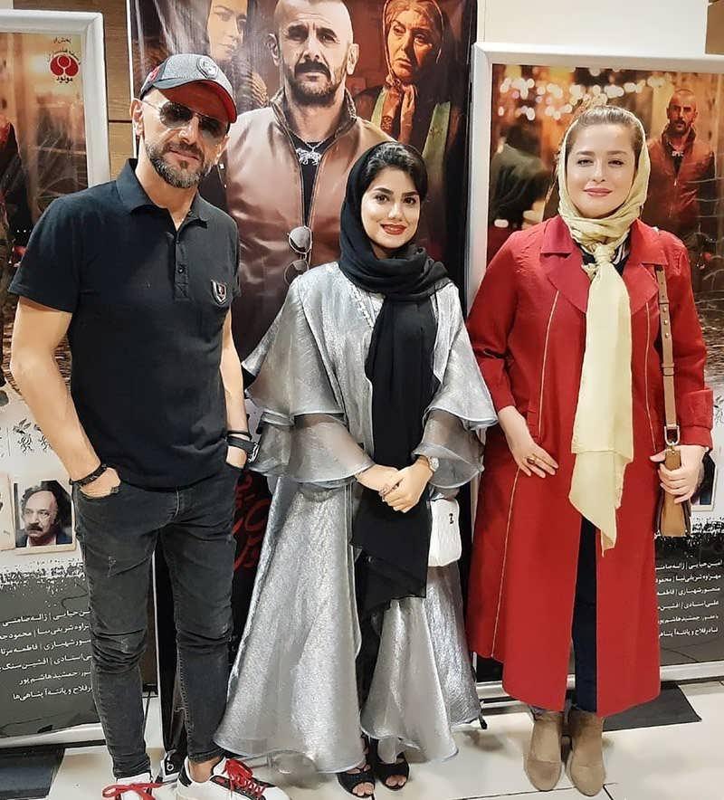 امین حیایی و مهراوه شریفی نیا در اکران فیلم درخونگاه