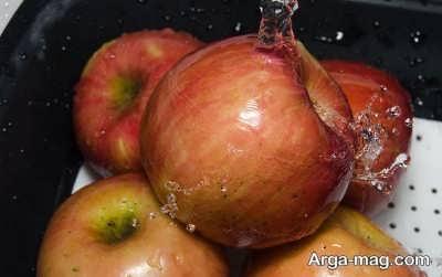 شستن سیب