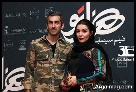 حضور مجتبی جباری و همسر در اکران فیلم هزارتو