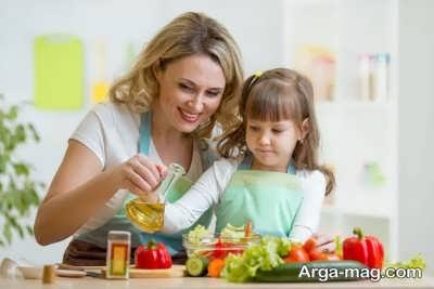تمایل کودکان به مصرف مواد غذایی ایده ال