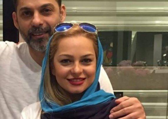 پیمان معادی کارگردان و بازیگر معروف به همراه همسرش