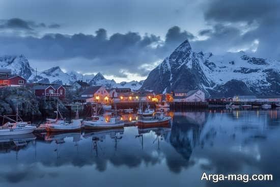 زمستانی زیبا و رویایی نروژ