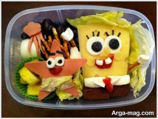 تزئین برای غذای کودک