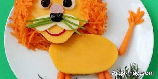 عکس تزئین غذای کودک