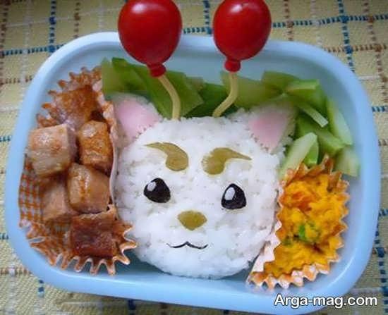 تزیینات فانتزی غذای کودکانه
