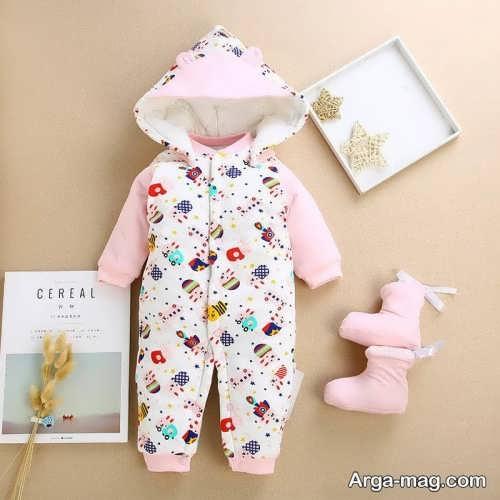 لباس سرهمی نوزاد طرح دار