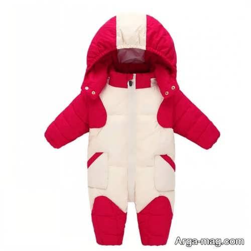 مدل لباس نوزادی دو رنگ