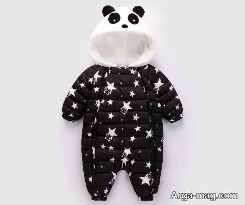 مدل لباس زمستانی نوزاد طرح دار