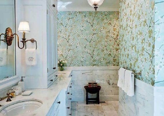 مجموعه زیبا و شیک کاغذ دیواری سرویس بهداشتی