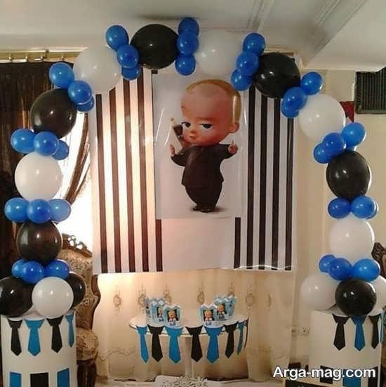 تزیین شیک جشن تولد پسرانه