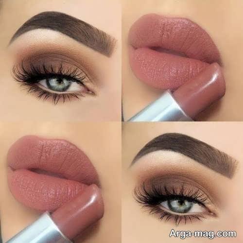 آرایش چشم و لب برای پوست سبزه