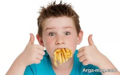 چاقی بیش از اندازه با مصرف چییپس برای کودکان
