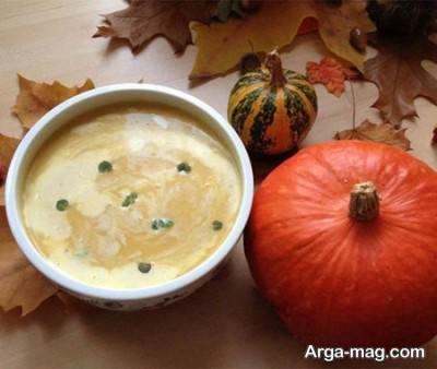 سوپ کدو حلوایی خوشمزه