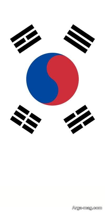 پرچم ملی کشور کره جنوبی