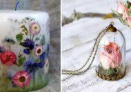 مدل های زیبای خلاقیت با گل خشک