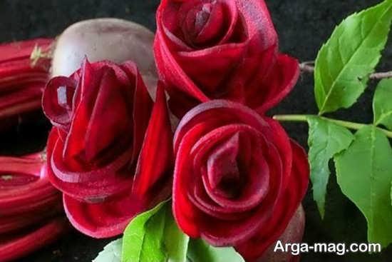 تزئینات لبو به شکل گل رز