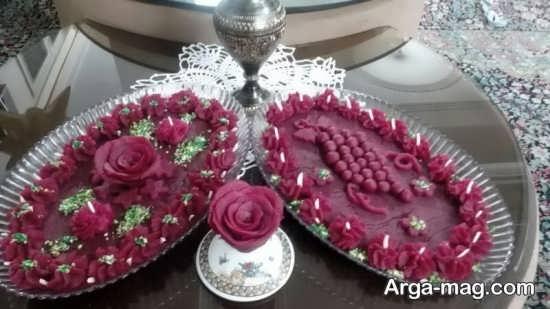تزئینات لبو به شکل انگور و گل