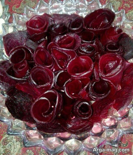 تزئینات لبو به شکل انواع گل