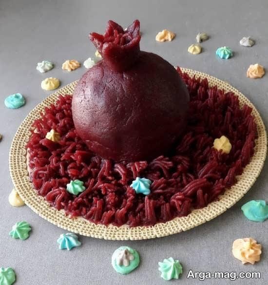 تزئینات لبو به شکل انار