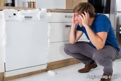 علت خارج نشدن آب ماشین ظرفشویی