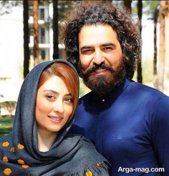 عکس دوست داشتنی الهام طهموری و همسرش حامد احمد جو