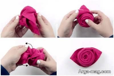 تا زدن مدل گل برای پوشت