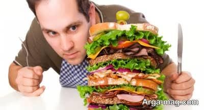 غذا خوردن بیش از حد